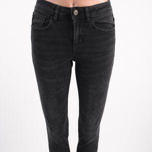 Zara Womens Jeans US 2 EU 34 Black Skinny Mid-Rise